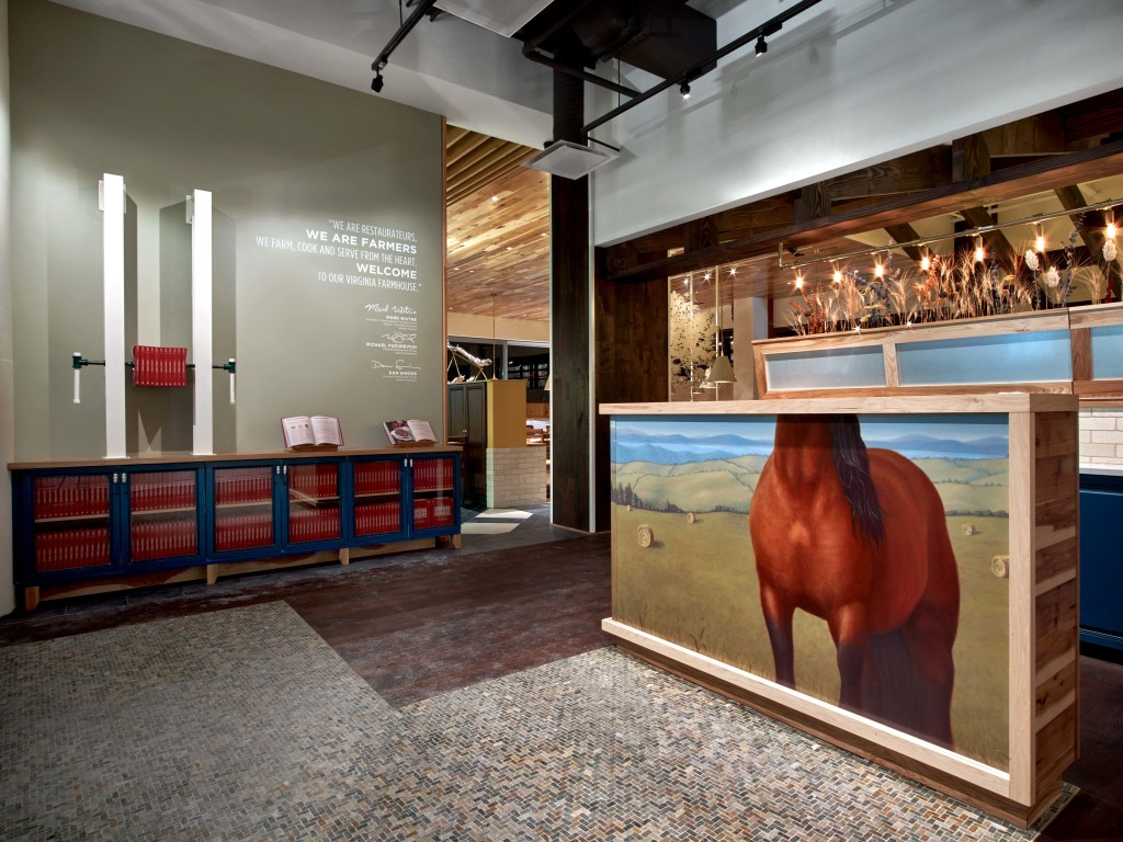 My Headless Horse painting for the Hostess stand at Founding Farmers Tysons