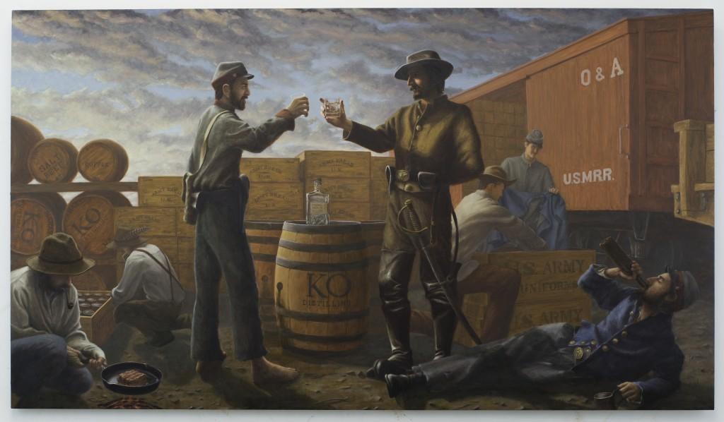 """""""KO at Manassas Junction"""", 4' x 7', Oil on Panel, 2015"""